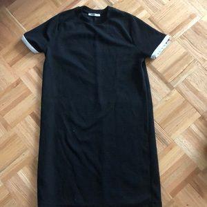 Zara Tshirt dress with white border